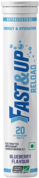 Fast&Up Reload (Electrolytes) for Energy & Hydration Sports Drink, Blueberry, 20 Tablets Hydration Drink