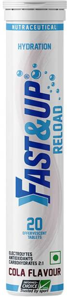 Fast&Up Reload (Electrolytes) for Energy & Hydration Sports Drink, Cola, 20 Tablets Hydration Drink