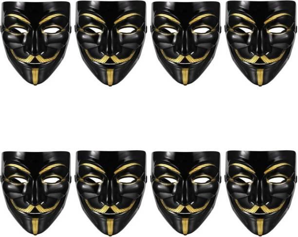 Stylin Black Vendetta Character 8masks Party Mask
