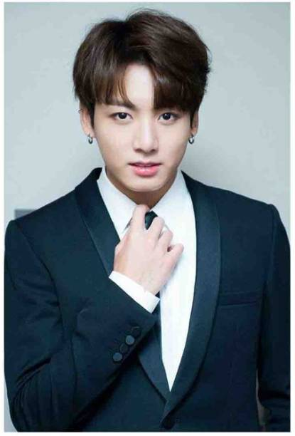 BTS Jungkook Poster | Decorative Wall Poster | Poster For Room | High Resolution -300 GSM- (18x12) Paper Print