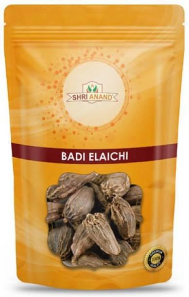 SHRI ANAND Elaichi Badi - Elettaria cardamomum - Black Cardamom Big (100 g)
