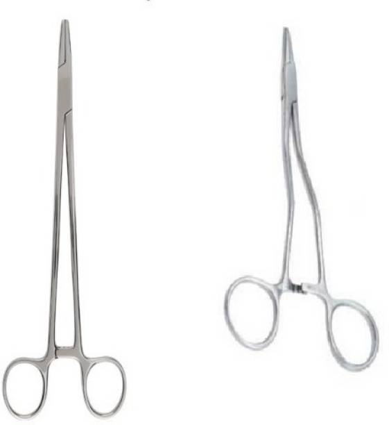 """Agarwals ™ Needle Holder 8"""" Straight And Curved (Set Of 2) Needle Holders"""