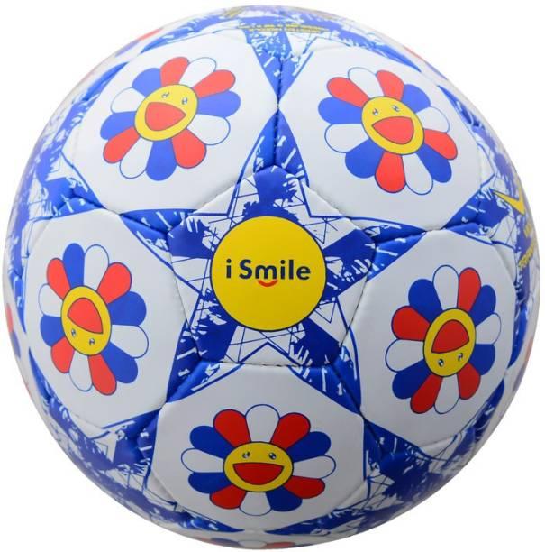VICKY iSmile Football, Size-5, Blue-Yellow-White Football - Size: 5
