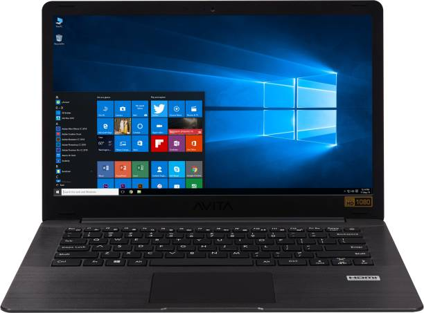 Avita Pura Ryzen 5 Quad Core 3500U - (8 GB/512 GB SSD/Windows 10 Home in S Mode) NS14A6INV561-MEGYB Thin and Light Laptop