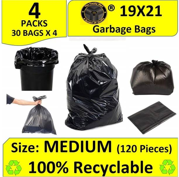 tfm Garbage Bag - 19x21 inches (Pack of 4, 120 Pieces, Small) Small 13 L Garbage Bag