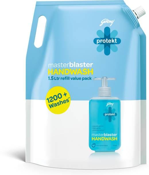Godrej Protekt masterblaster Handwash Refill - 1500 ml Hand Wash Pouch