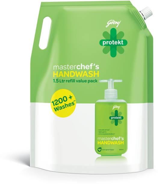 Godrej Protekt masterchef's Handwash Refill - 1500 ml Hand Wash Pouch