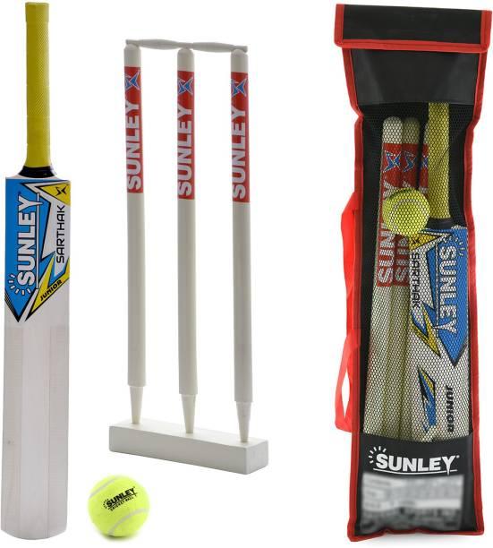 SUNLEY wooden Junior Combo Cricket Kit Cricket Kit