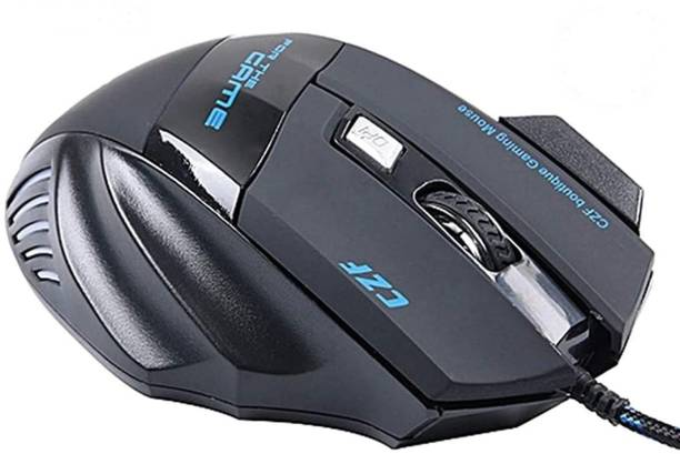 VIBOTON TINJI TJ-08 Wired Gaming Mouse 6D Optical 7 Button LED 5500 DPI USB Computer Mouse Gamer Mice Silent with Backlight for PC Laptop Wired Optical  Gaming Mouse