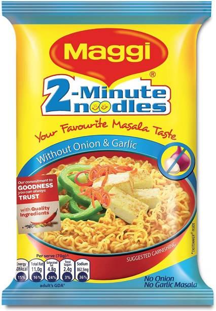 Maggi 2 Minute Masala Noodles, No Onion No Garlic, 70g(12PKT) Instant Noodles Vegetarian