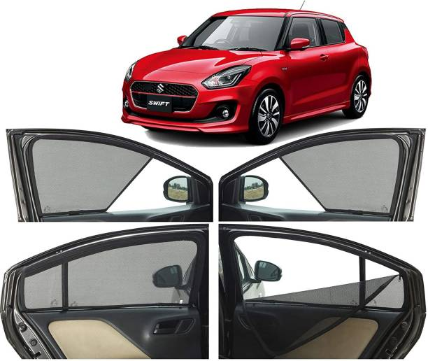 MOTORSLAYER Side Window, Rear Window Sun Shade For Maruti Suzuki Swift