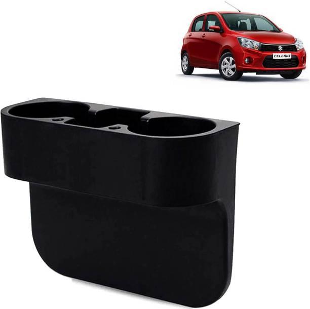 Rhtdm Car Seat Gap Drink / Storage Organizer Holder Black For Celerio_CBH218 Car Bottle Holder