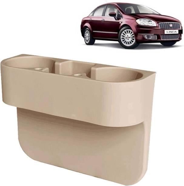 aksmit Car Seat Gap Drink / Storage Organizer Holder Beige For Linea_CDH428 Car Bottle Holder