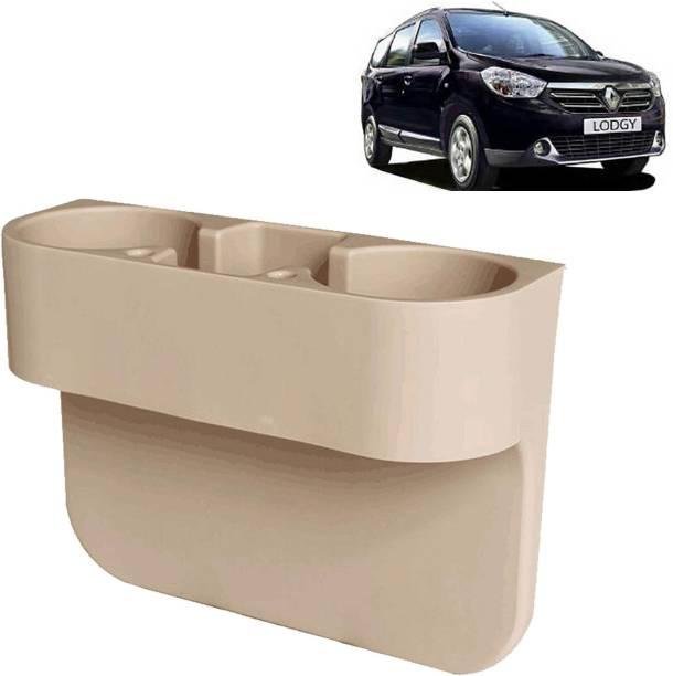 aksmit Car Seat Gap Drink / Storage Organizer Holder Beige For Lodgy_CDH550 Car Bottle Holder