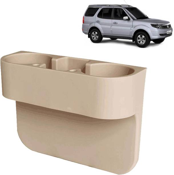 aksmit Car Seat Gap Drink / Storage Organizer Holder Beige For Safari Storme_CDH573 Car Bottle Holder