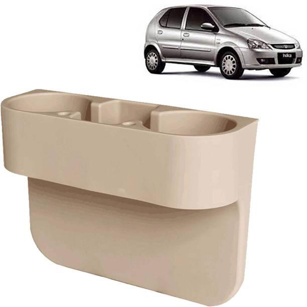 aksmit Car Seat Gap Drink / Storage Organizer Holder Beige For Indigo_CDH566 Car Bottle Holder
