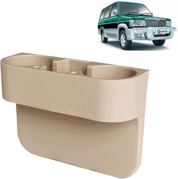 aksmit Car Seat Gap Drink / Storage Organizer Holder Beige For Qualis_CDH598 Car Bottle Holder