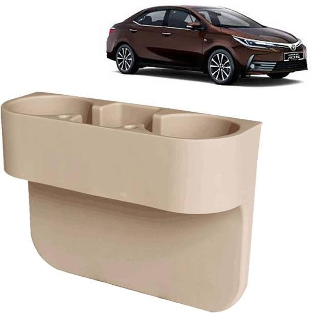 aksmit Car Seat Gap Drink / Storage Organizer Holder Beige For Corolla Altis_CDH586 Car Bottle Holder