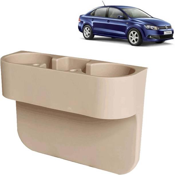 Rhtdm Car Seat Gap Drink / Storage Organizer Holder Beige For Vento_CDH607 Car Bottle Holder