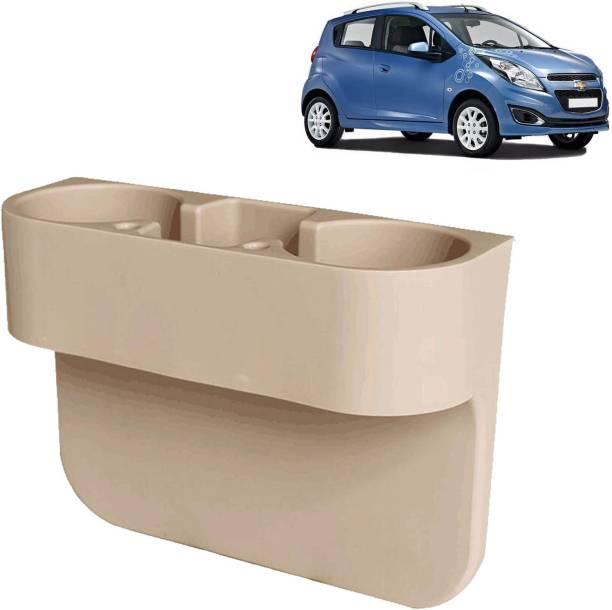 aksmit Car Seat Gap Drink / Storage Organizer Holder Beige For Spark_CDH420 Car Bottle Holder