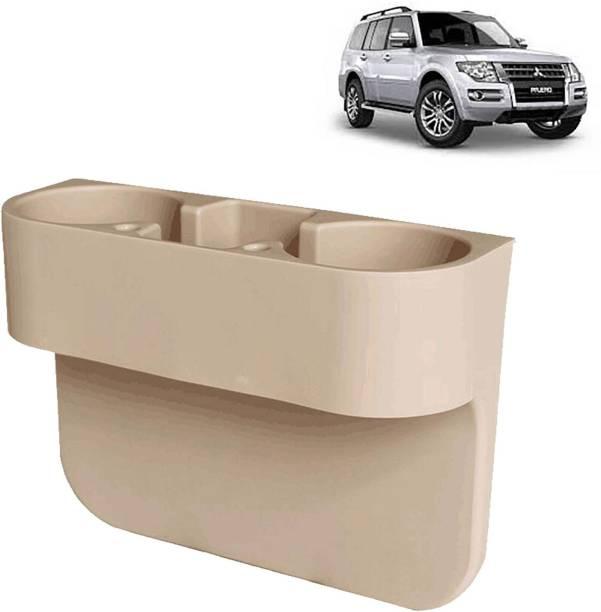 aksmit Car Seat Gap Drink / Storage Organizer Holder Beige For Pajero_CDH537 Car Bottle Holder