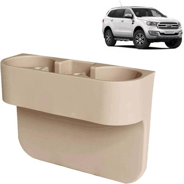 aksmit Car Seat Gap Drink / Storage Organizer Holder Beige For Endeavour_CDH443 Car Bottle Holder