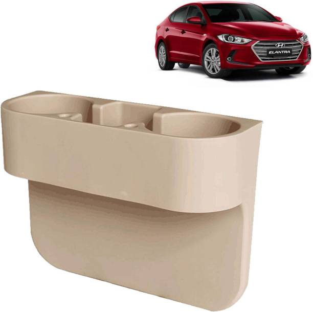 aksmit Car Seat Gap Drink / Storage Organizer Holder Beige For Elantra_CDH463 Car Bottle Holder
