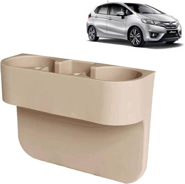 aksmit Car Seat Gap Drink / Storage Organizer Holder Beige For Jazz_CDH457 Car Bottle Holder