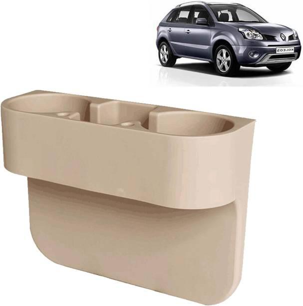aksmit Car Seat Gap Drink / Storage Organizer Holder Beige For Koleos_CDH548 Car Bottle Holder