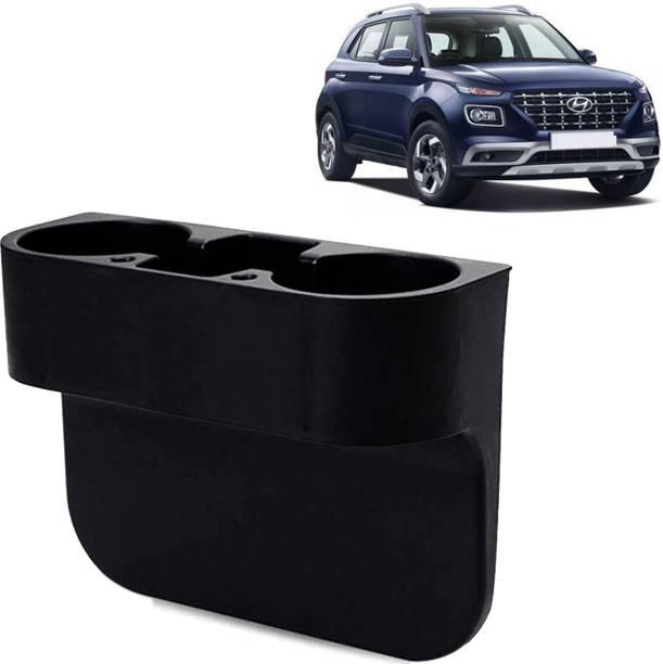 aksmit Car Seat Gap Drink / Storage Organizer Holder Black For Venue_CBH317 Car Bottle Holder