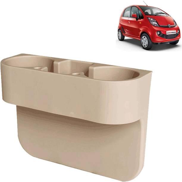 aksmit Car Seat Gap Drink / Storage Organizer Holder Beige For Nano_CDH570 Car Bottle Holder