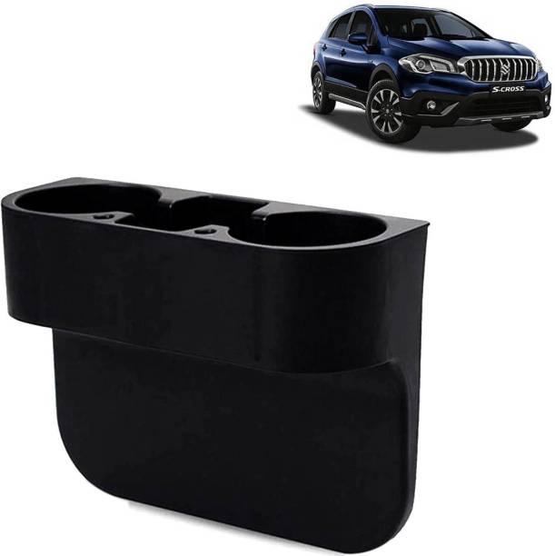 Rhtdm Car Seat Gap Drink / Storage Organizer Holder Black For S-Cross_CBH231 Car Bottle Holder