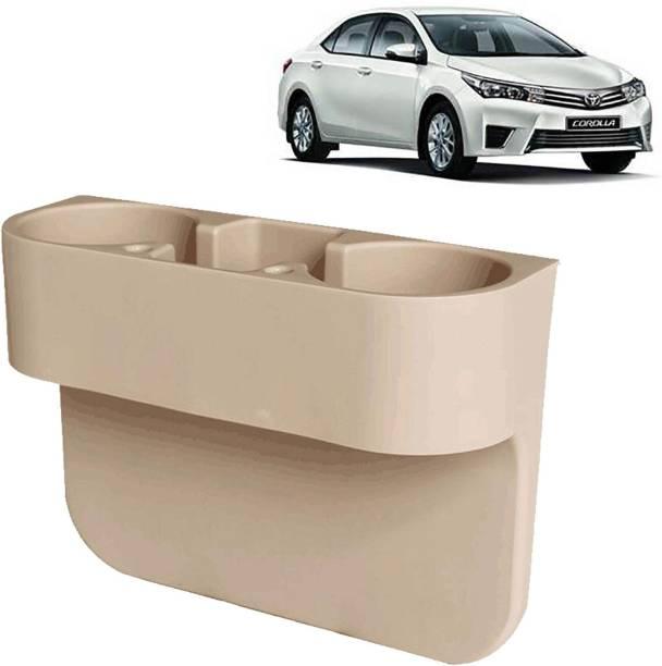 aksmit Car Seat Gap Drink / Storage Organizer Holder Beige For Corolla_CDH585 Car Bottle Holder