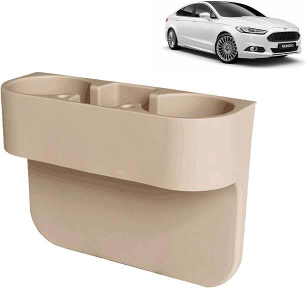 aksmit Car Seat Gap Drink / Storage Organizer Holder Beige For Mondeo_CDH442 Car Bottle Holder