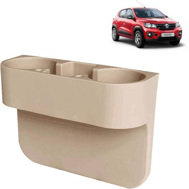 aksmit Car Seat Gap Drink / Storage Organizer Holder Beige For Kwid_CDH549 Car Bottle Holder
