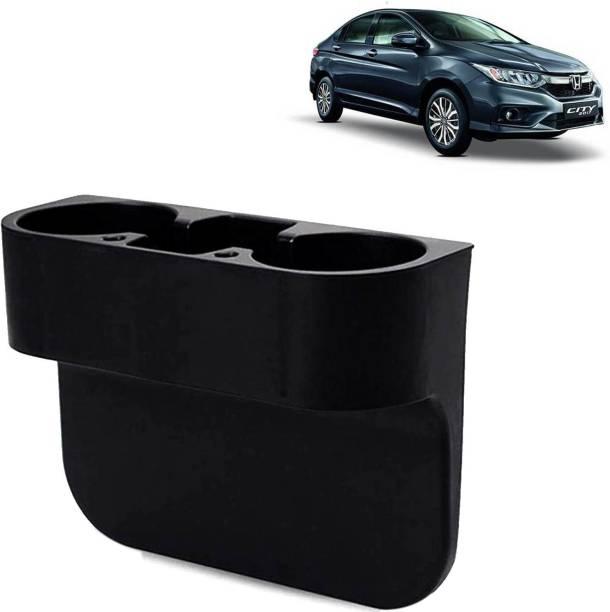 Rhtdm Car Seat Gap Drink / Storage Organizer Holder Black For City_CBH161 Car Bottle Holder