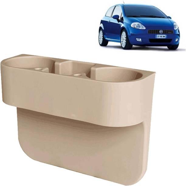 aksmit Car Seat Gap Drink / Storage Organizer Holder Beige For Grande Punto_CDH427 Car Bottle Holder