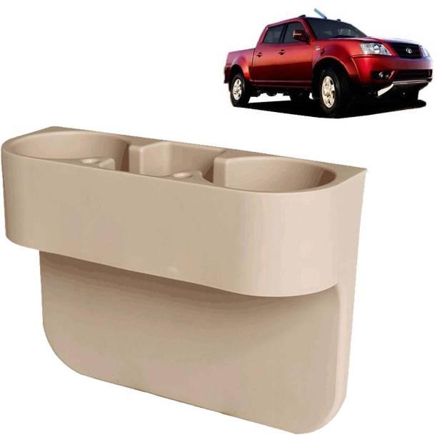 aksmit Car Seat Gap Drink / Storage Organizer Holder Beige For Xenon XT_CDH582 Car Bottle Holder