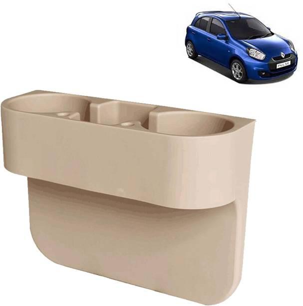 aksmit Car Seat Gap Drink / Storage Organizer Holder Beige For Pulse_CDH552 Car Bottle Holder