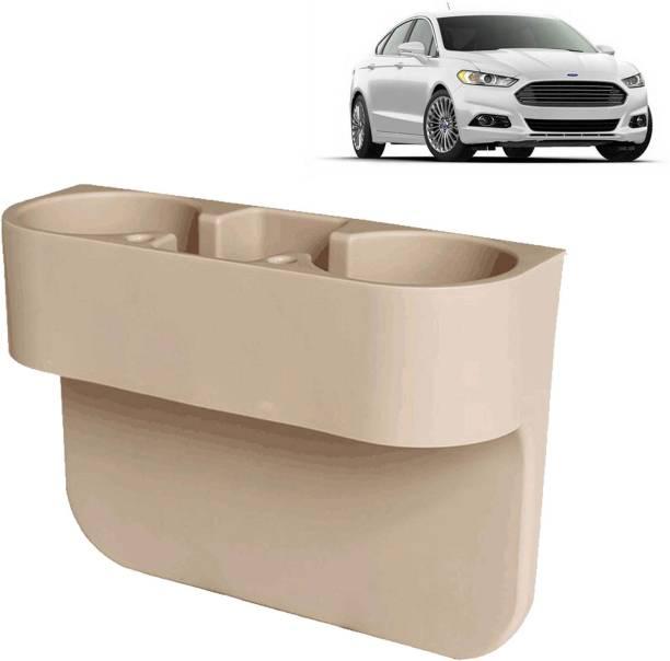 aksmit Car Seat Gap Drink / Storage Organizer Holder Beige For Fusion_CDH440 Car Bottle Holder