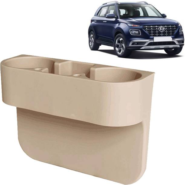 Rhtdm Car Seat Gap Drink / Storage Organizer Holder Beige For Venue_CDH608 Car Bottle Holder