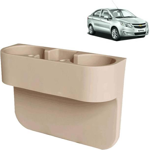 aksmit Car Seat Gap Drink / Storage Organizer Holder Beige For Sail_CDH418 Car Bottle Holder