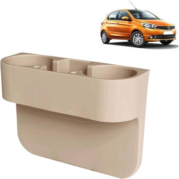aksmit Car Seat Gap Drink / Storage Organizer Holder Beige For Tiago_CDH577 Car Bottle Holder