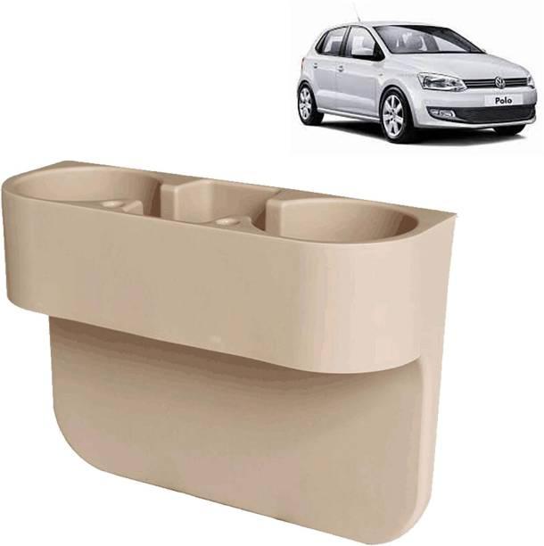 aksmit Car Seat Gap Drink / Storage Organizer Holder Beige For Polo_CDH603 Car Bottle Holder