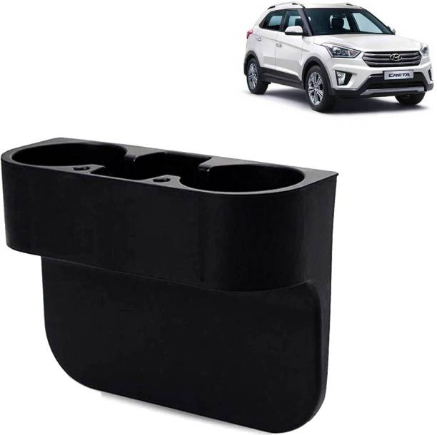 Rhtdm Car Seat Gap Drink / Storage Organizer Holder Black For Creta_CBH171 Car Bottle Holder