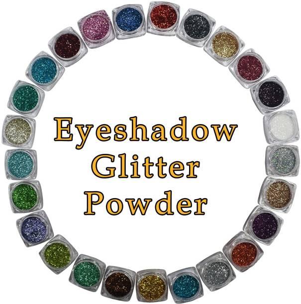 VOZWA Multicolor Eyeshadow Glitter Powder (Eyes + Face + Body) 25 pcs 25 ml
