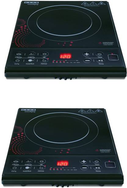 USHA 3616 pack of 2 Induction Cooktop