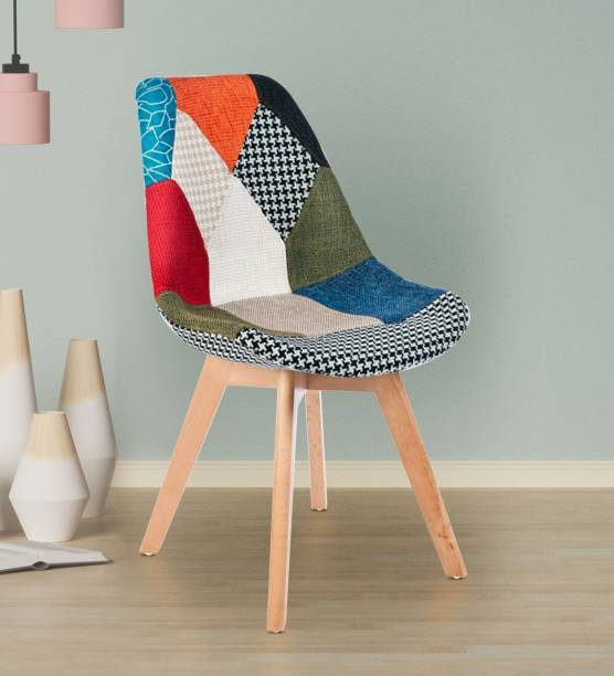Finch Fox Chairs with Solid Wood Soft Padded Seat (Multicolored) Fabric Living Room Chair