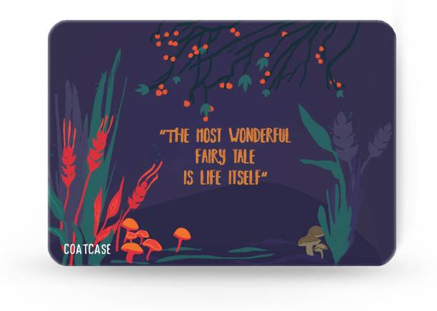 COATCASE The most beautiful fairy tale is life itself Printed Rubber Base with Anti Skid Feature for Computer and Laptop Designer Gaming Mouse pad Mousepad