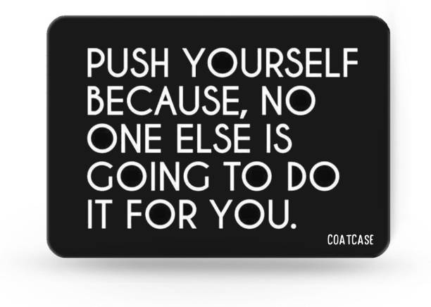 COATCASE Motivational Quotes Printed Rubber Base with Anti Skid Feature for Computer and Laptop Designer Gaming Mouse pad Mousepad
